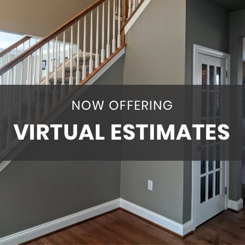 Decorative image announcing virtual estimates from Aspen Painting.